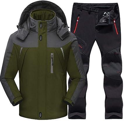 SSXZ Traje de esquí al Aire Libre Hombres Resistente al Viento ...