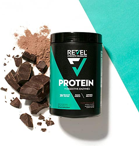 Revel Whey Protein Powder for Women 25g Protein Supports Weight Loss Metabolism Lean Muscle 2lbs Classic Chocolate