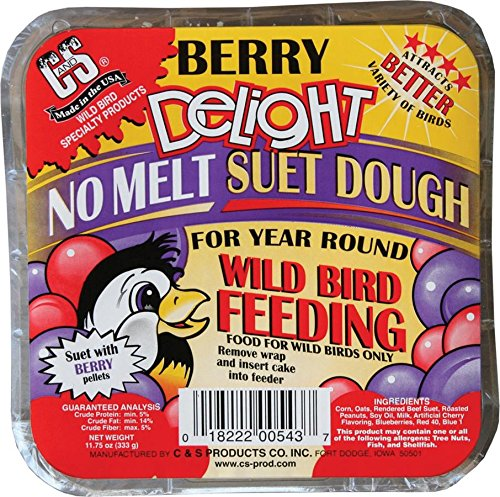C&S Berry Delight No-Melt Suet Dough 11.75oz