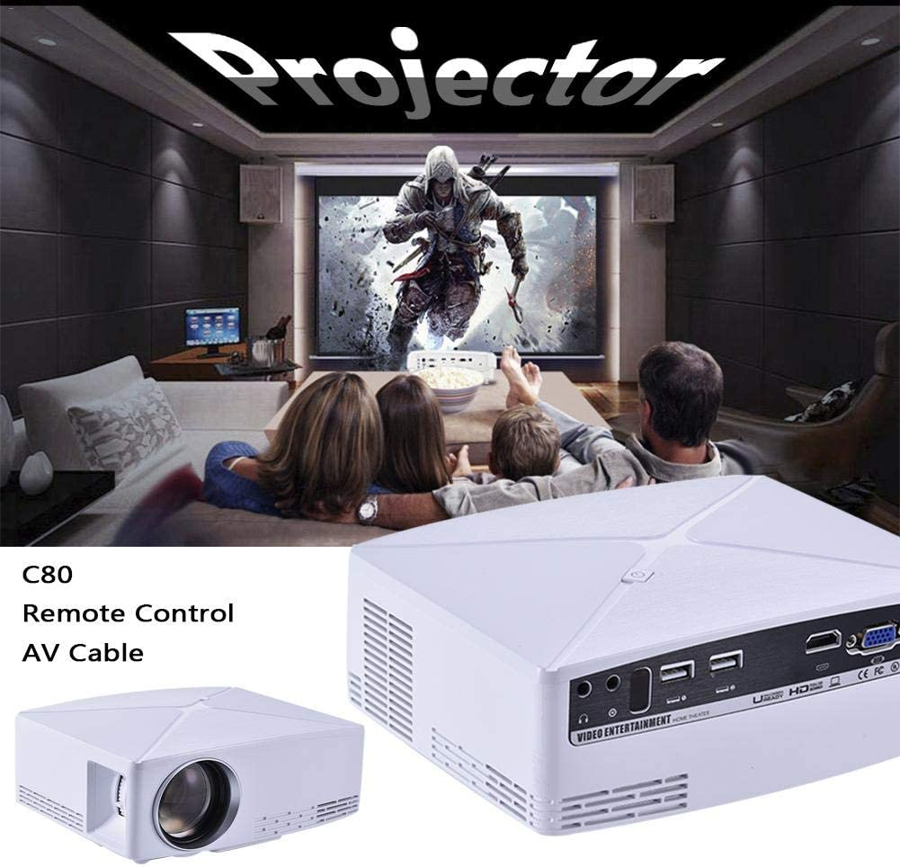 Kbsin212 portátil LED Video proyector – proyector LED Cine en casa ...