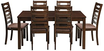 Royal Oak Rocco Six Seater Dining Table Set (Walnut): Amazon.in ...