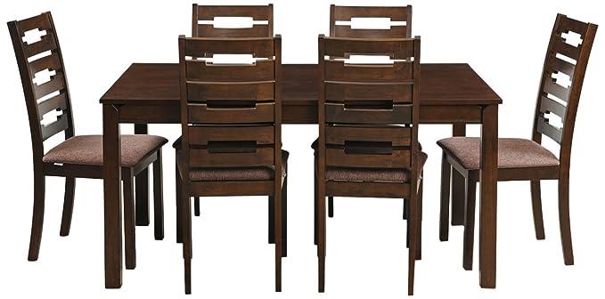 Royaloak Rocco Six Seater Dining Table Set (Walnut)