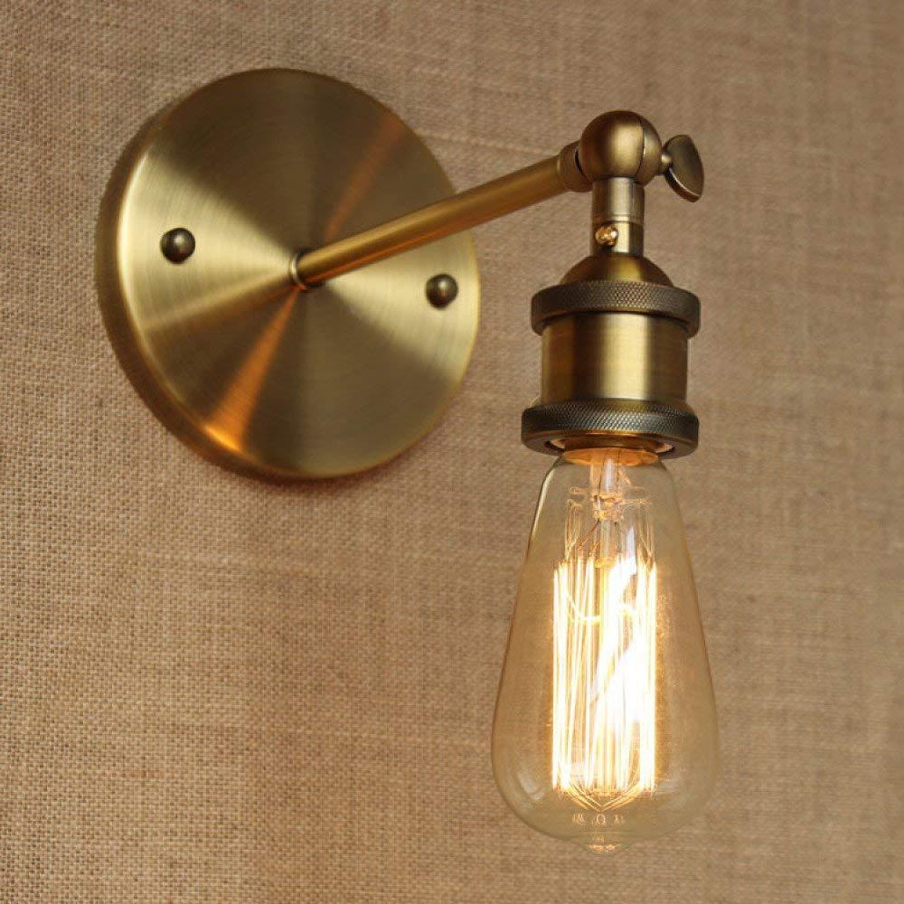 Amerikanische Vintage Wandleuchte Lampe Wandbeleuchtung Wandleuchte Industrielle Eisenkunst Edison Lampe E27 Sockel Für Hausbar Restaurants Café Club-Dekoration (110-220 V-Lampen nicht enthalten), Sch