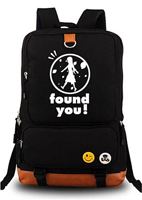 9e0765ac0b Siawasey Anohana Anime Cosplay Luminous Backpack Shoulder Bag School Bag