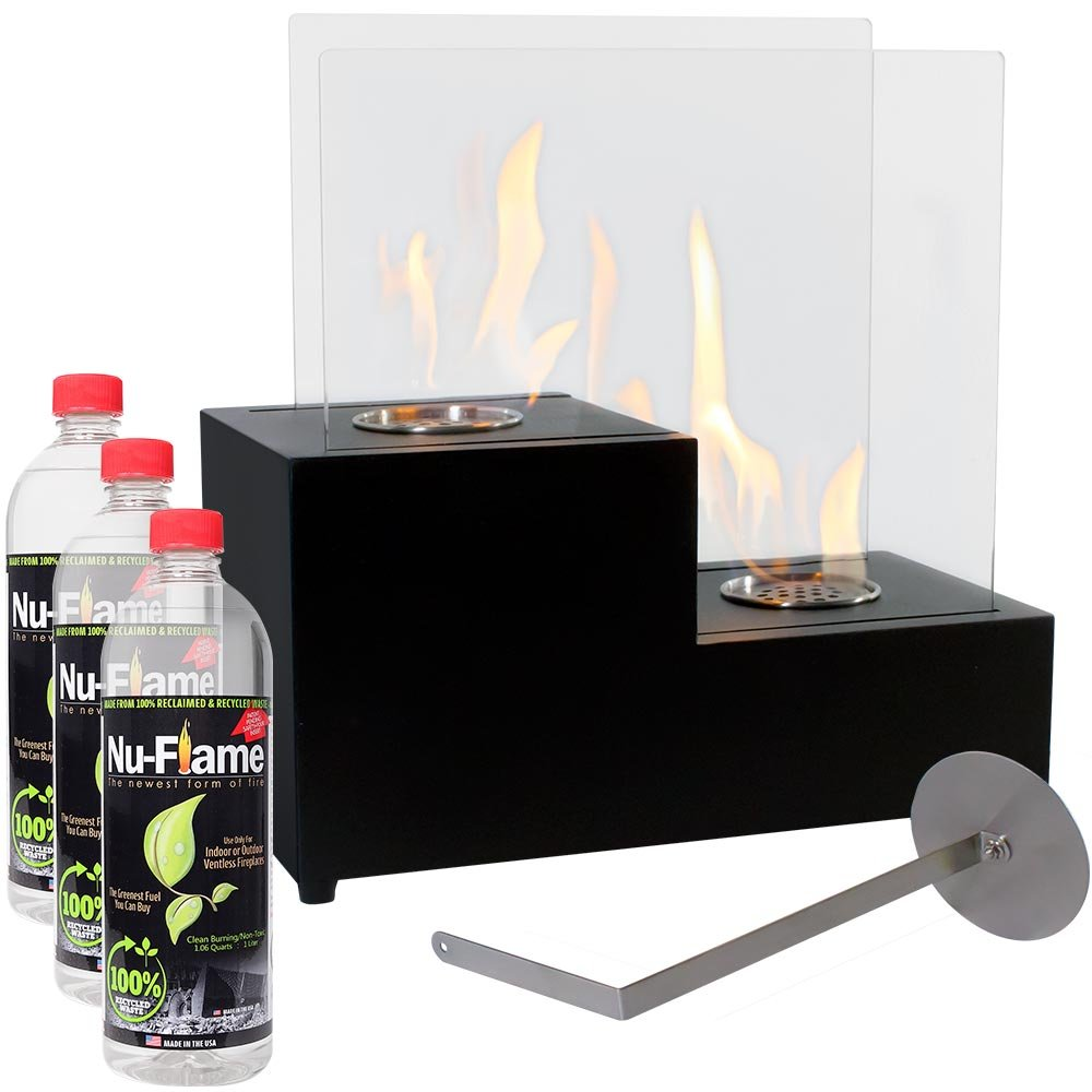 Sunnydaze Passo Ventless Tabletop Bio Ethanol Fireplace with Fuel