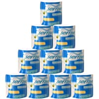 SturdCelleau 10 pcs Toilet Paper, Kitchen Roll Paper 3 Layers Bathroom Toilet Paper Household Living Room Bedroom WC Tissue