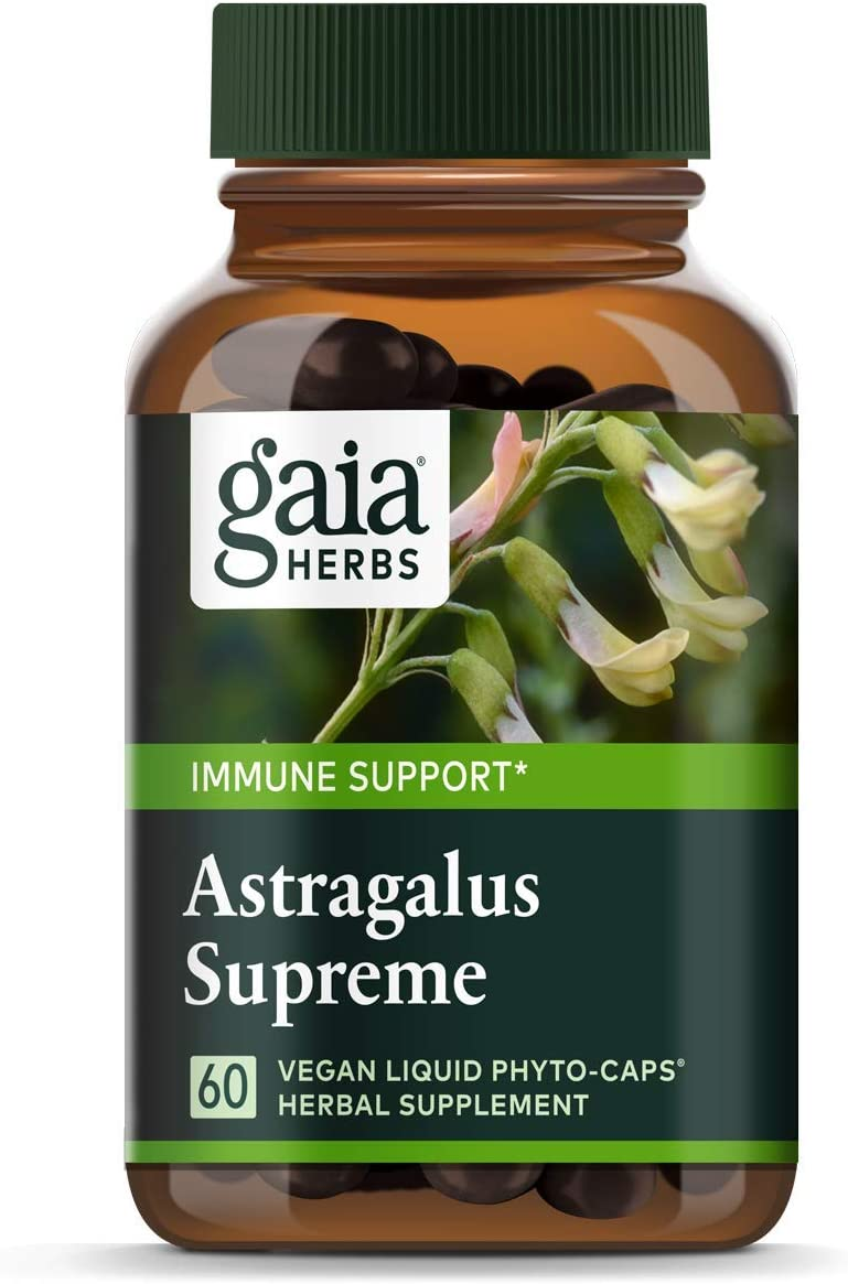 Gaia Herbs Astragalus Supreme, Vegan Liquid Capsules, 60 Count – Deep Immune Support and Stress Resistance, with Antioxidants