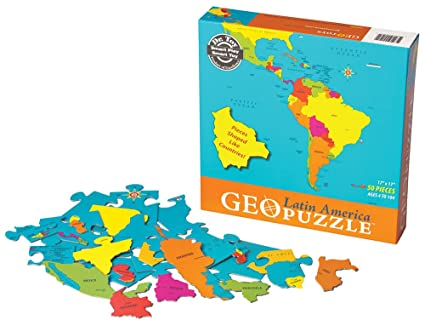 Amazon.com: GeoPuzzle Latin America Geography Educational ...