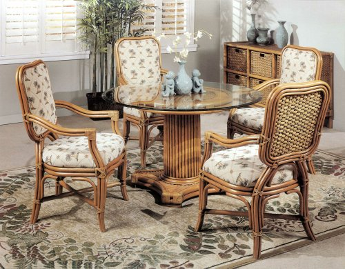 Barbados Rattan Wicker Dining 5PC Set Fully Assembled