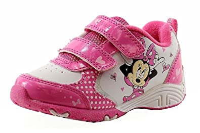 921cee102ef Disney Minnie Mouse Toddler Girl s White Fuchsia Light Up Sneakers Shoes  Sz  12
