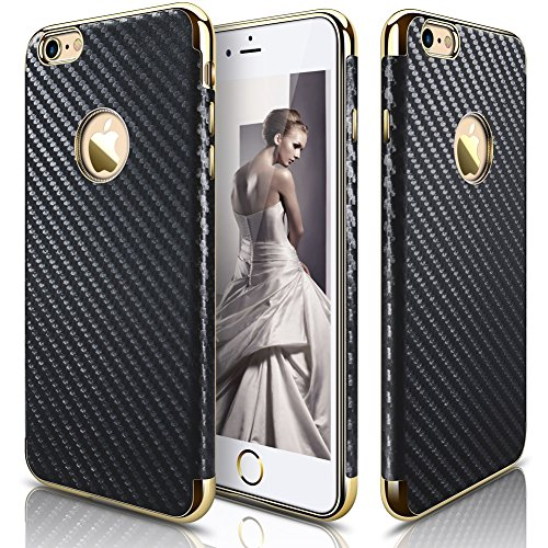 LOHASIC iPhone 6s case, for iPhone 6 Case, Ultra Slim [Carbon Fiber] Premium Leather Anti-Slip [Flexible & Soft] Shockproof Cases Cover Compatible with iPhone 6s & iPhone 6 - Carbon Fiber