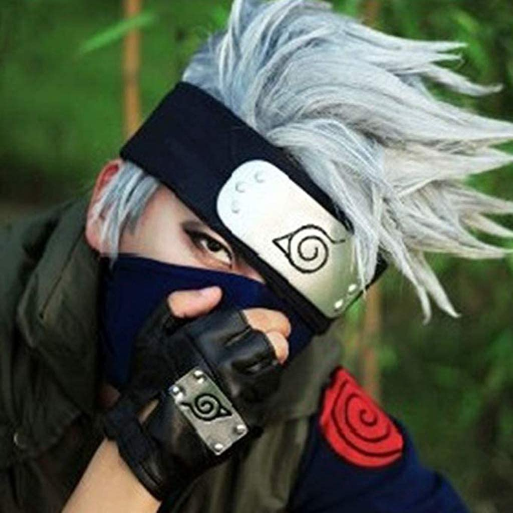 Amazon.com: COSAUG Cosplay Gloves with Headband Hatake ...