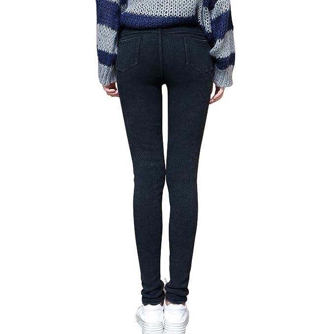Women Winter Skinny Tight Zip Leggings Stretch Pant Slim Jeggings Pencil Trouser