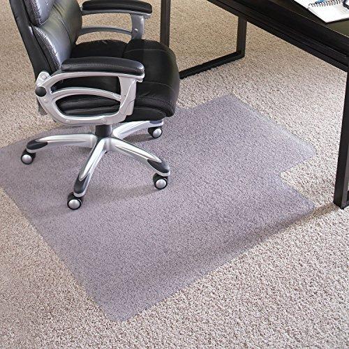 ES Robbins EverLife Anchor Bar Lipped Vinyl Chair Mat for High Pile Carpet, 45 by 53-Inch, Clear