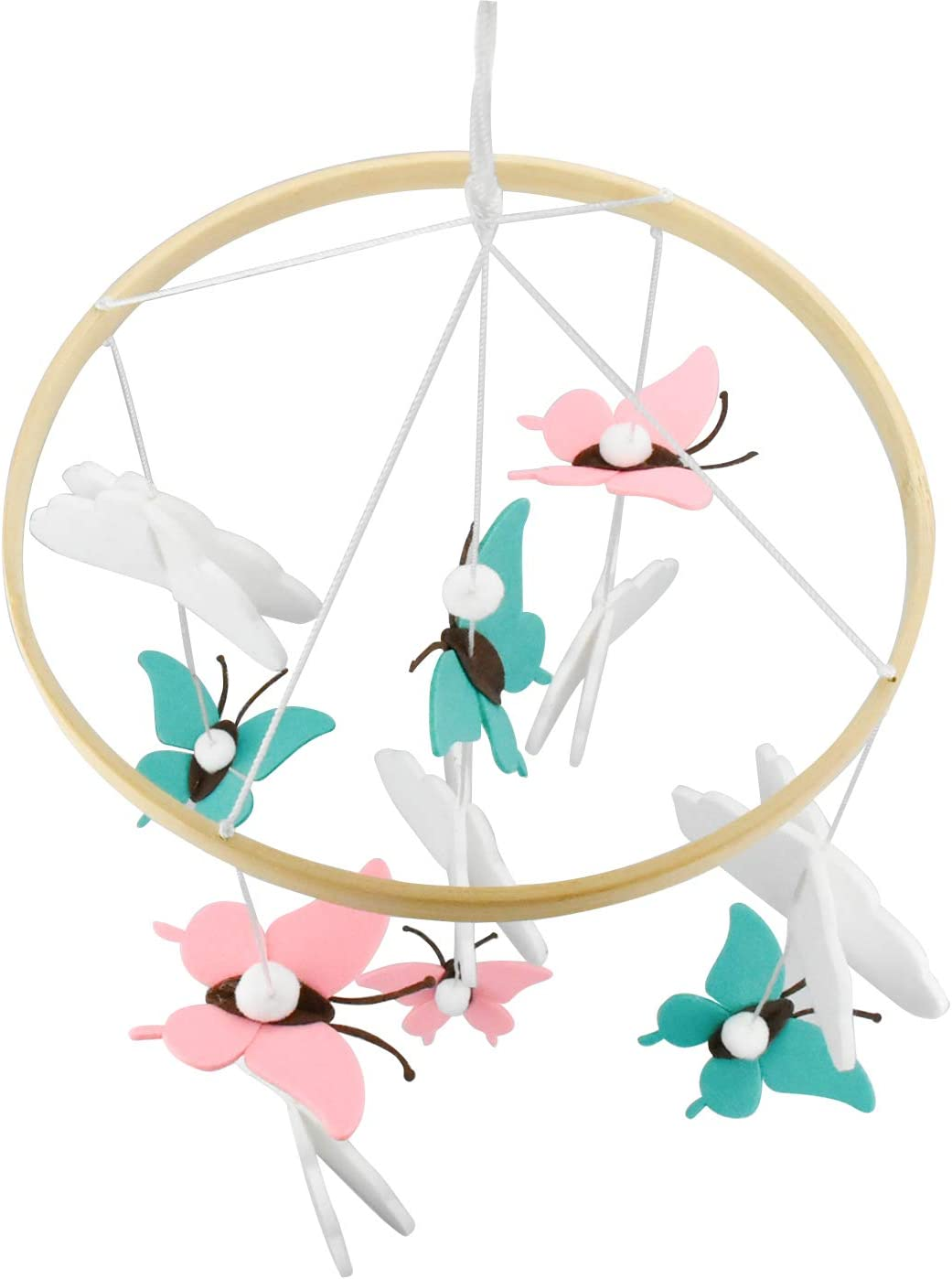 Small Foot Animal Mobile Hanging Cloud Butterfly Decoration Nursery Ceiling Mobile Baby Cot Felt Ball Mobile Infant Crib Musical Mobile Baby Wind Chimes
