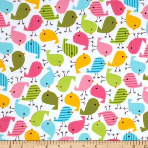Urban Zoologie Flannel Birds Sweet Fabric By The Yard (Flannel Fabric For Quilting compare prices)
