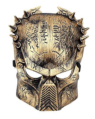 HLLWN Expresss, Predator, Halloween Masquerade Metalic Mask 2014 HLWMSK70, Gold (Predator Costumes For Kids)