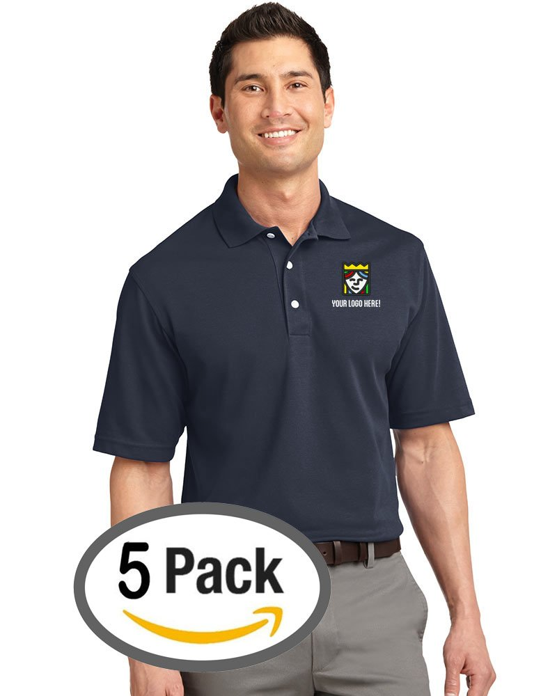 Custom Embroidered Queensboro LIFT Luxury Hybrid Polo - Pack Of 5
