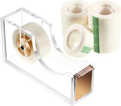"8x Clear Office Transparent Tape 3//4/"" x1000/"" Desktop Stationery Tape Dispenser"