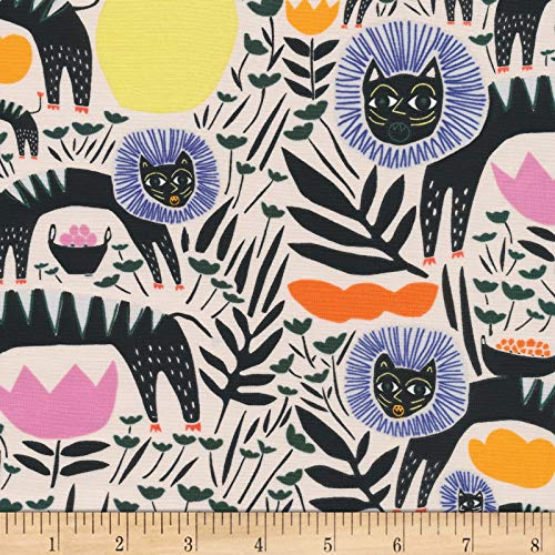 Cloud 9 Fabrics Organic Wild Teamwork Black/Multi Fabric by the Yard