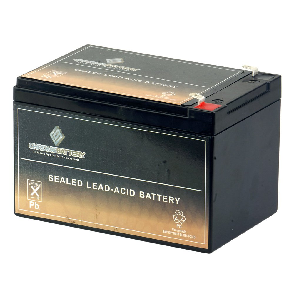 12V 12AH Sealed Lead Acid (SLA) Battery - T2 Terminals - for ZB-12-12 by Chrome Battery
