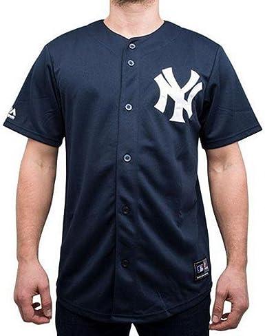 Majestic Camiseta MLB New York Yankees Jerseey Azul/Blanco Talla: XL (X-Large): Amazon.es: Ropa y accesorios