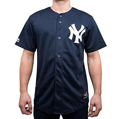 13d8fc2721f68 Majestic New York Yankees MLB Replica Home Jersey Baseball Navy ...