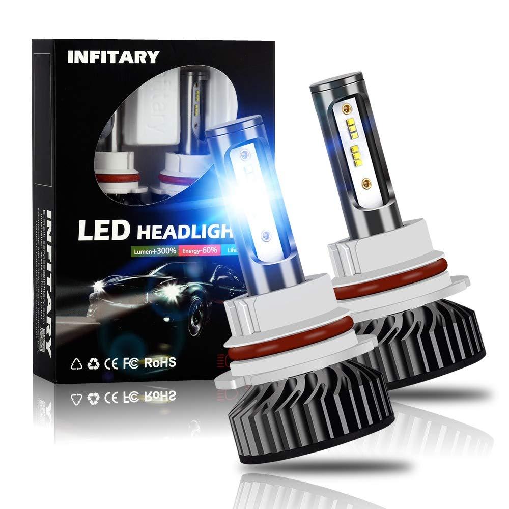 6000K Crystal White 4-Sided Light SoCal-LED 2X 4S HB5 9007 Hi//Lo Headlight Bulbs LED Conversion Kit 80W 8000LM COB LED Bulb