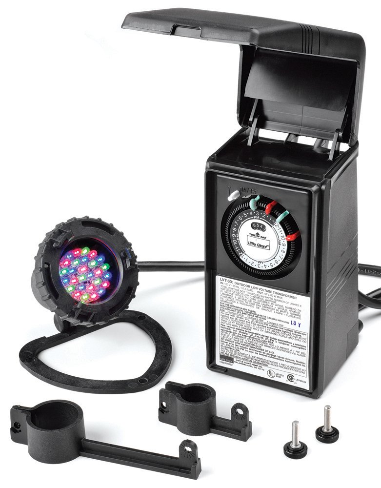 Little Giant 566226 Submersible LED Light and Low Voltage Transformer