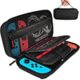 Electronics : Hestia Goods Carrying Case for Nintendo Switch with 20 Game Cartridges, Protective Hard Shell Travel Carrying Case Pouch for Nintendo Switch Console & Accessories, Black