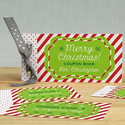 amazon com personalized christmas coupon book 1 book with 12 pages