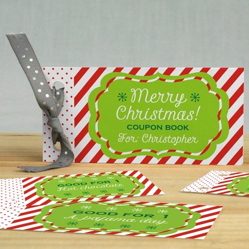 Christmas Coupons - Personalized Christmas Coupon Book, 1 Book With 12 Pages