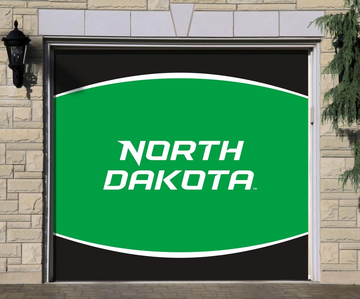 7 ' x 8 ' Singleガレージドア装飾North Dakota Fighting Hawks B07B3YFKCL