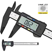 Electronic Digital Caliper, Plastic Vernier Caliper, Caliper Measuring Tool with Inch/Millimeter Conversion, Extra Large LCD Screen, 0-6 Inch/0-150 mm, Auto Off Featured Micrometer Ruler