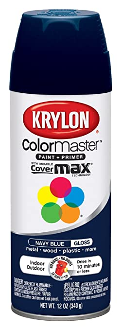 Awesome Krylon 51907 Navy Blue Interior And Exterior Decorator Paint   12 Oz.  Aerosol