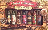 Global Collection Hot Sauce Variety Pack Gift Set-7 Delicious Hot Sauces From Around the World Served in 3 FL Ounce Samplers-Hot Sauce Gift