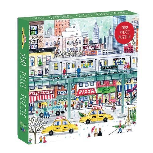 Piece 500 Jigsaw City (Galison 9780735353091 Michael Storrings New York City Subway 500, NYC Subway)
