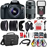 Canon EOS Rebel T6 18MP DSLR Camera w/ 18-55mm + 75-300mm + Flash + 12 Filters + 64GB + Cleaning Kit + Monopod