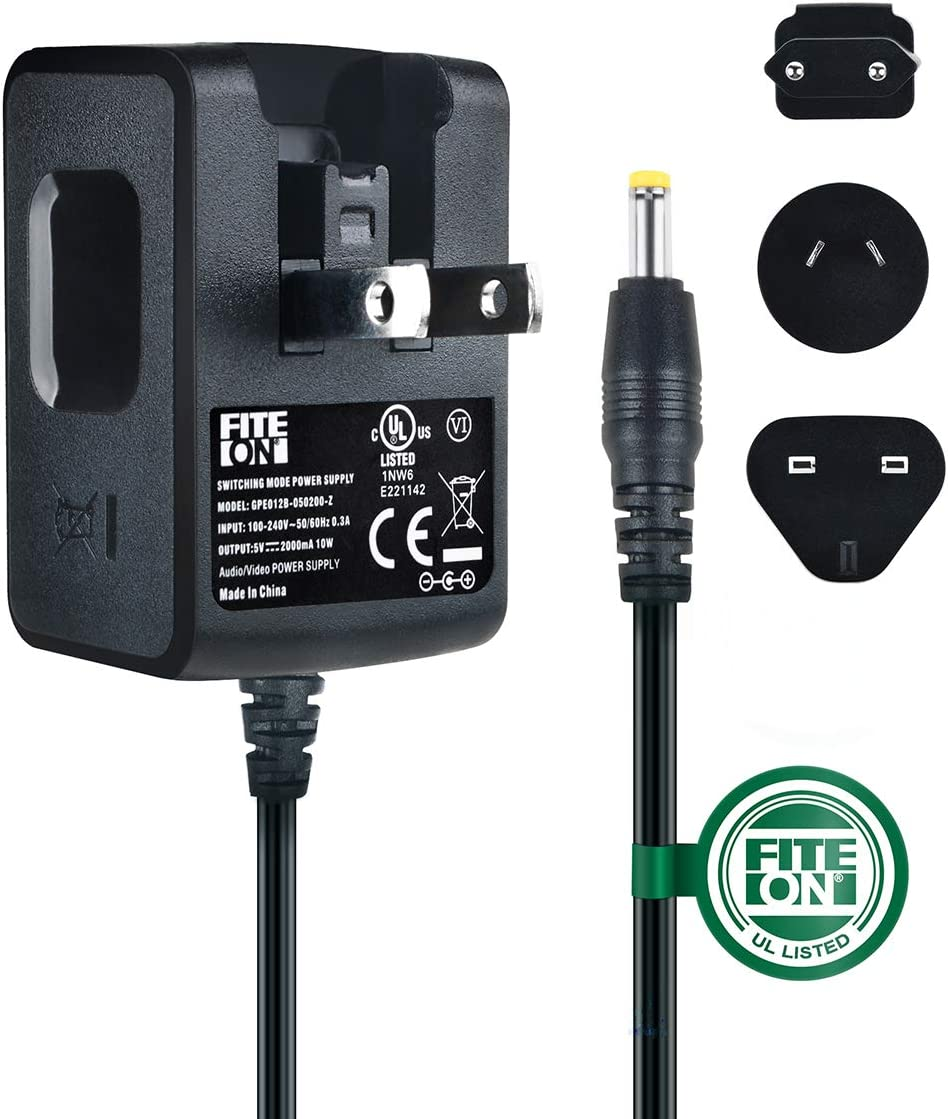 FITE ON 5V AC Adapter Compatible with Kodak M853 M1033 V1003 M863 M340 M763 M873 V550 DX7590 M340 M341 V803 DX7440 Z730 Z760 Camera UL Listed Charger with EU,AU/&UK Plugs