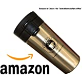 BEST SELLER Thermo Coffee Cup 2018 (380 ML) BIG CAMPAIGN. Vacuum Flask Better quality than most brands-Drink Cup - Double Wall Insulated - NEW Easy Clean - 12 Hours Hot & 24 Hours Cold