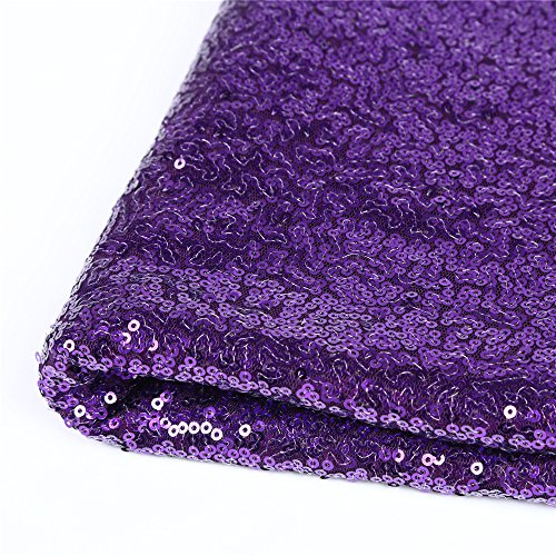 Zdada (Purple 4x25Ft Marriage Ceremony Bridal Shimmer Glitter Carpert Runner Wedding Aisle Runner Outdoor Wedding Aisle Floor Runner