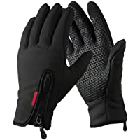 VMFTS Touch Screen Gloves Winter Gloves Driving Gloves Windproof Outdoor Work Gloves for Men Women,Black