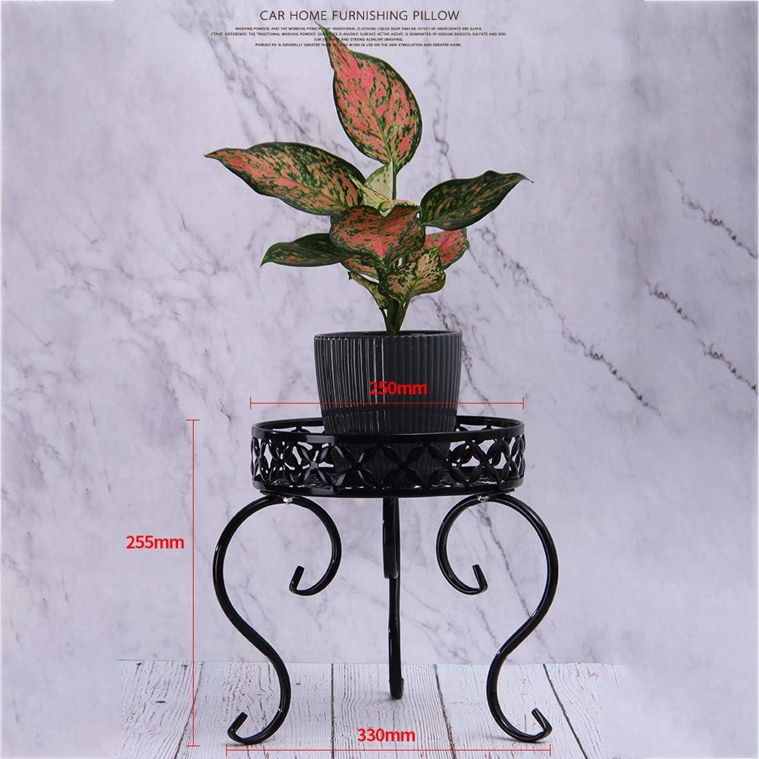 Teakpeak Metal Potted Plant Stand Round Metal Plant Pot Holder Metal Plant Pot Stand Indoor Outdoor