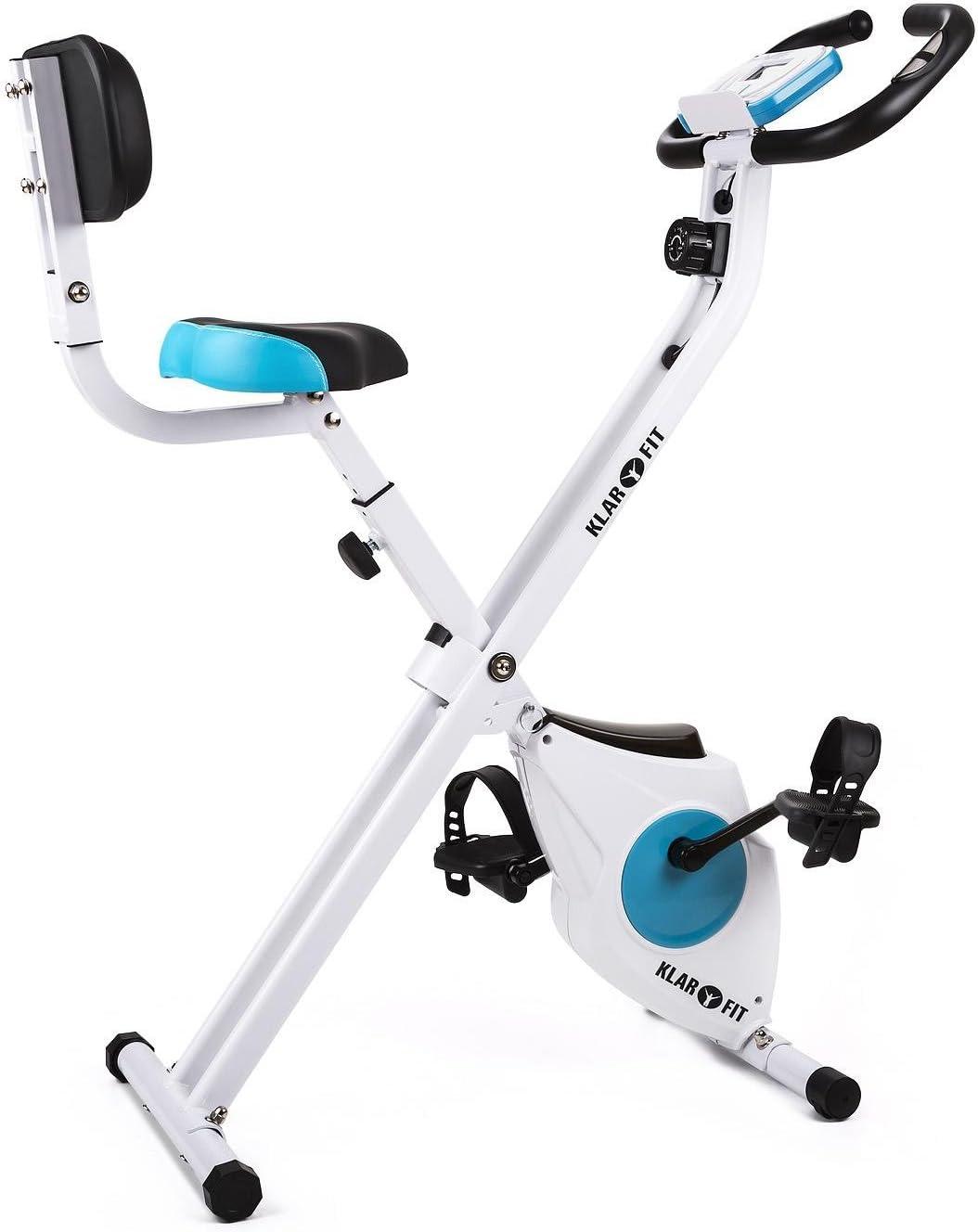 Klarfit Azura – Bicicleta estática plegable con ordenador de ...