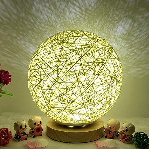 Hot Sale!DEESEE(TM)3D USB Charging LED Rattan Moon Night Light Moonlight Table Desk Moon Lamp (B) ()