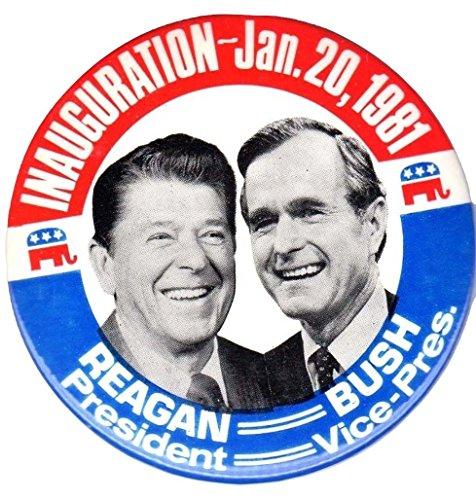 Ronald Reagan & George Bush Original 1981 Inauguration Day Button
