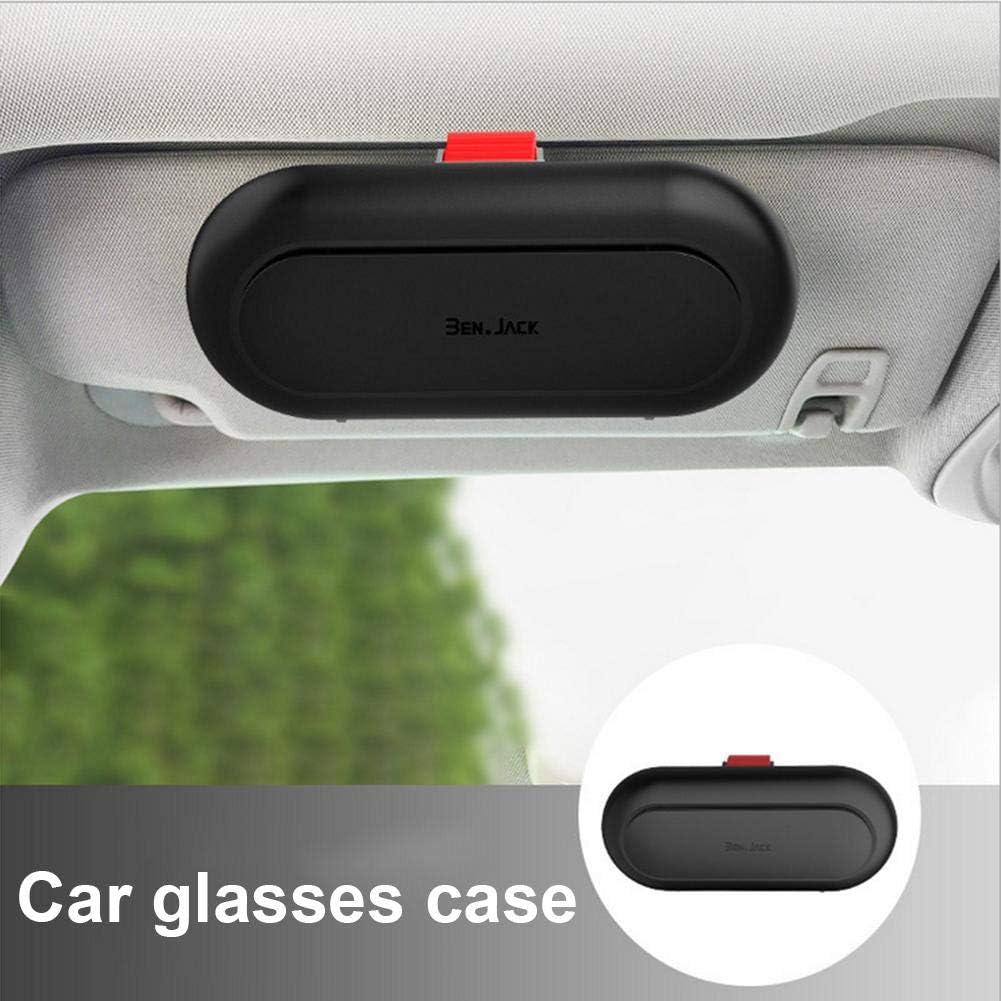 Apply to All Car Models Eye Sunglasses Organizer Mount with Ticket Card Clip Black Car Sun Visor Glasses Case Holder Clip