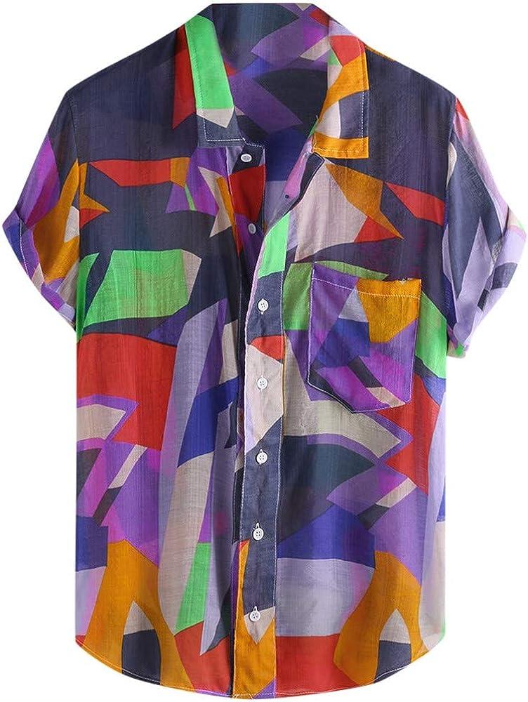 Overdose Camisas de Hombre Verano Manga Corta Originales Oferta de Retazos Estampadas Hippie Camiseta de la Playa: Amazon.es: Ropa y accesorios