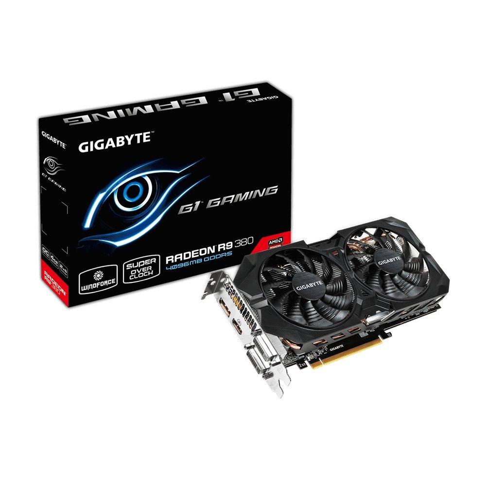 Gigabyte AMD R9 380 256 Bit GDDR5 4GB 2xDVI/HDMI/DP G1 Gaming Graphics Card GV-R938G1 GAMING-4GD