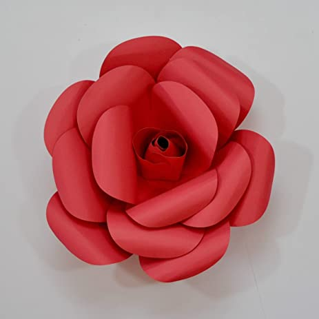 Amazon paper flowers cardstock hand made back drop photo prop paper flowers cardstock hand made back drop photo prop diy rocket red flower mightylinksfo